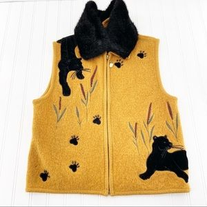 Lisa International Panther Sweater Vest Large